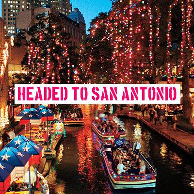 Headed to San Antonio